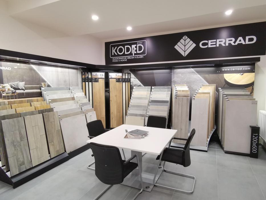 Showroom v Praze. Využijte naší vzorkovnu se širokým sortimentem keramických obkladů dlažeb a souvisejícího sortimentu. | Showroom KODED Stav